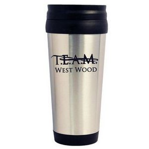 14 Oz. Double Wall Silver Stainless Steel Travel Tumbler