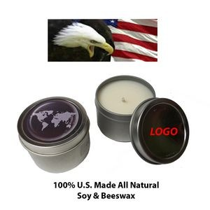 Scented Vanilla Candle in Tin Case (2oz.)