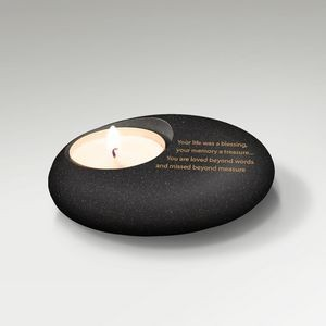 Concrete Rock Candle Holder