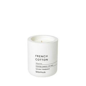 Blomus Fragra French Cotton Small Candle w/Concrete Container