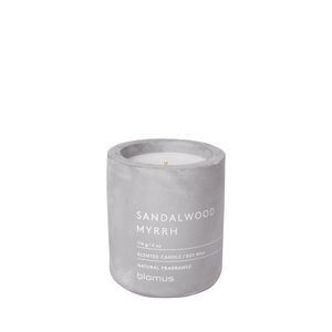 Blomus Fragra Sandalwood Myrrh Small Candle w/Concrete Container